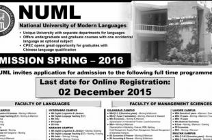 Admissions In Numl Islamabad
