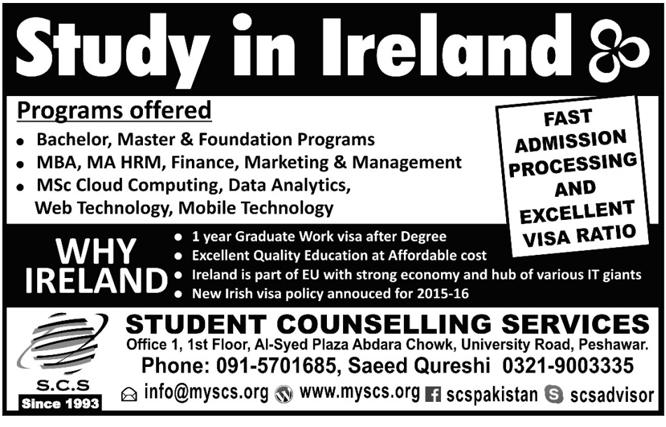 MBA MA Study In Ireland 18 - Nov - 2015