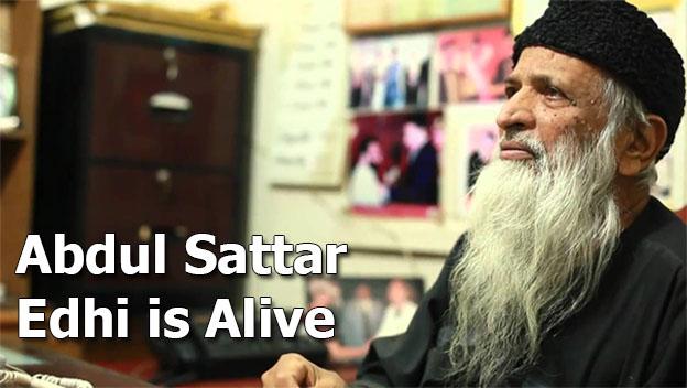 Abdul Sattar Edhi is Alive Performing Routine Work - Death is Rumors