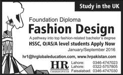 Fashion Design, Study in UK 11 Dec 2015