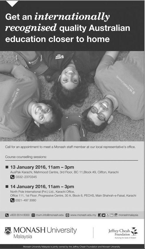 Admissions in Monash University Malaysia