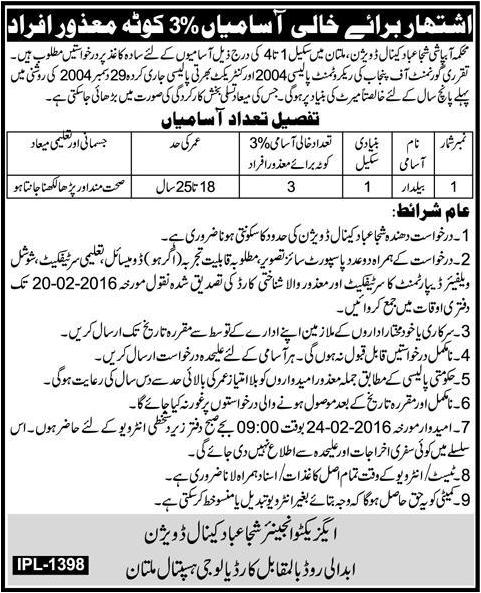 Bail Dar Jobs in Multan